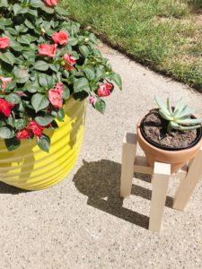 DIY Mid-Century Plant Stand