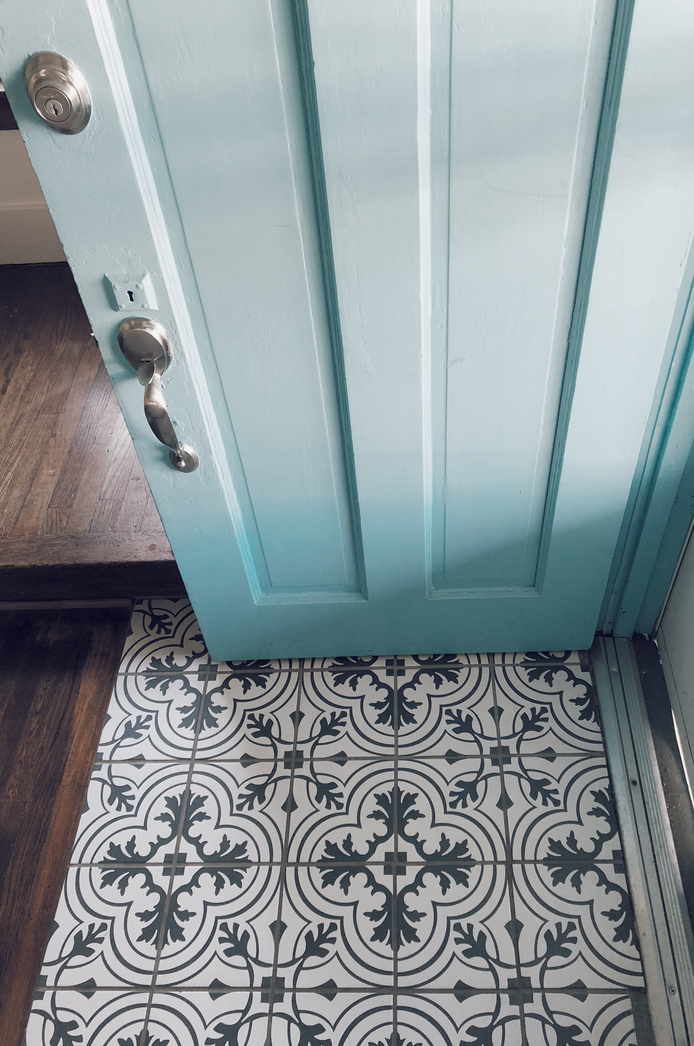 Upgraded Entryway Tile | Renovating Mapleson Manor