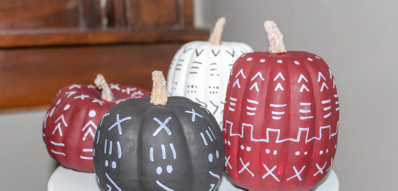 DIY Mudcloth Pumpkin