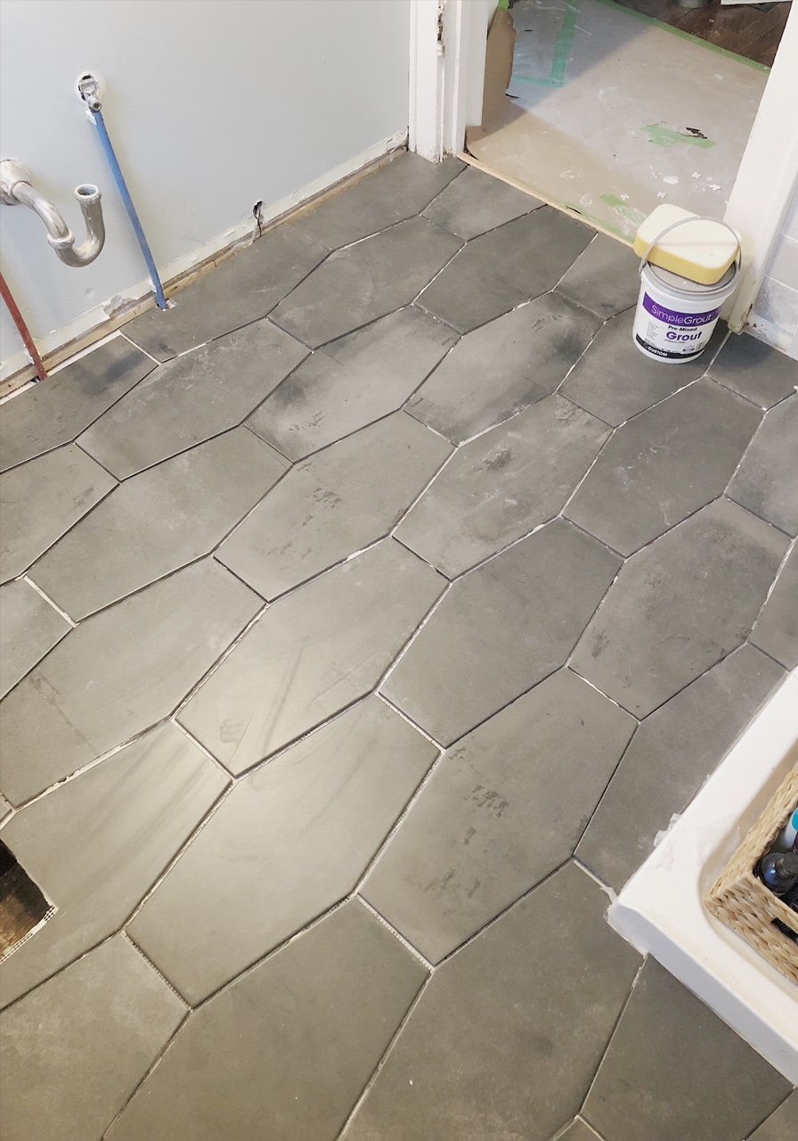 Gray Geometric Tile