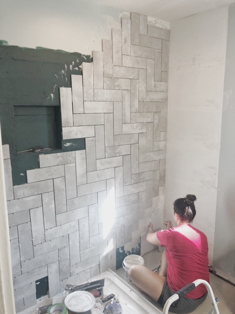 bathroom tile remodel