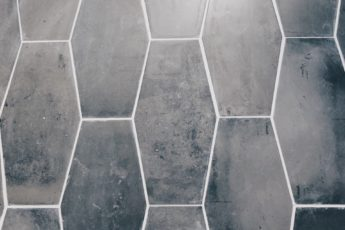 Grey Geometric Tile