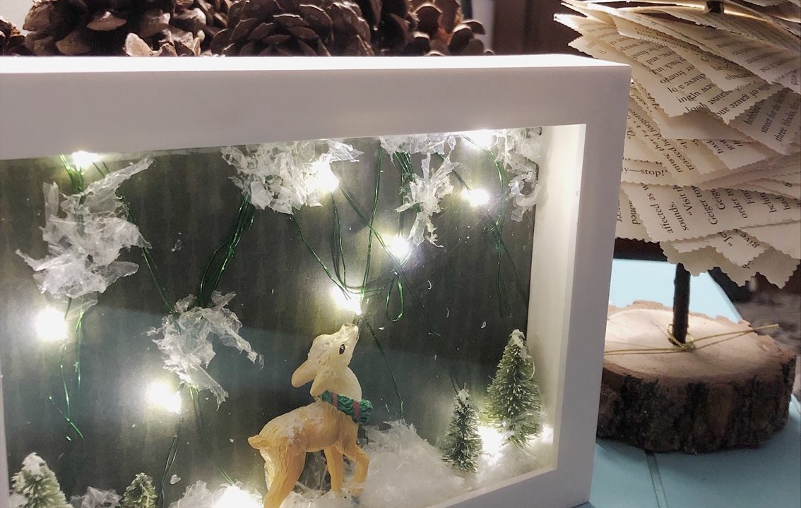 Holiday Shadow Box DIY