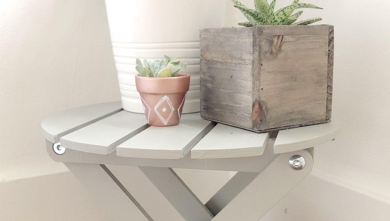 Chalk Paint Plant Stand